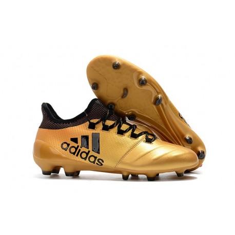 Zapatillas de fútbol Adidas X 17.1 FG Oro Negro