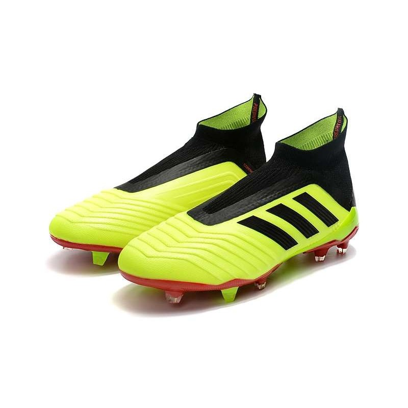 Zapatillas de fútbol Adidas Predator 18+ FG Para Hombre Volt