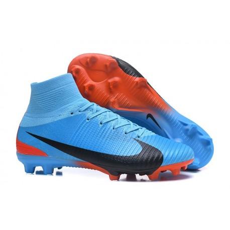 Zapatillas de fútbol Nike Mercurial Superfly V FG Para Hombre Azul Rojo Negro