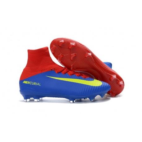detailed pictures b2004 dac78 Nuevo Botas de fútbol Nike Mercurial Superfly 5 FG Azul Rojo Amarillo