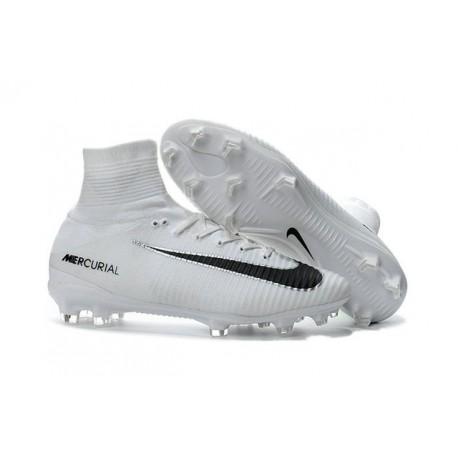 huge discount 4b4c1 c9afb Botas de fútbol Nike Mercurial Superfly V FG Blanco Negro