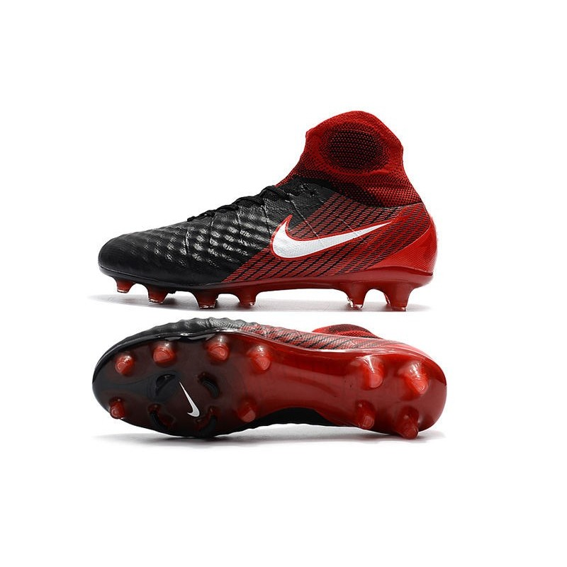 outlet store 34f01 898a3 Zapatillas de fútbol Nike Magista Obra II FG Negro Blanco Hyper Rojo  Ampliar. Anterior. Siguiente