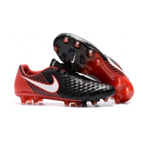 Zapatillas de fútbol Nike Magista Opus II FG Negro Blanco Rojo 8a5c71d48125b