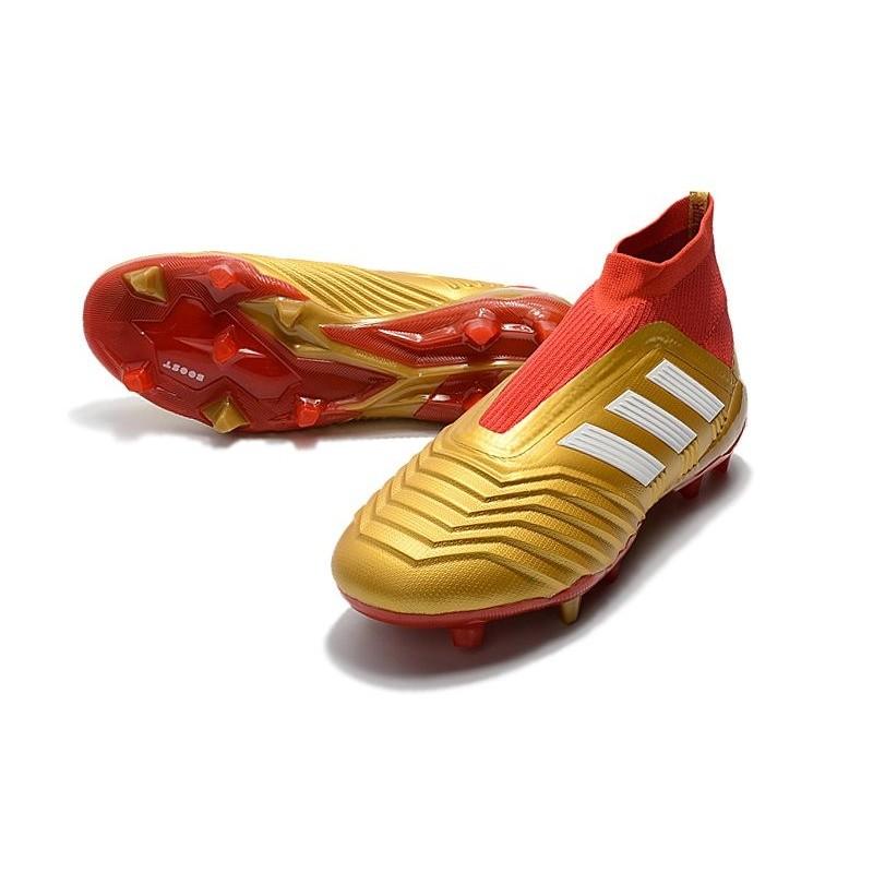 new product 23d81 c196a Baratas Botas de fútbol Adidas Predator 18+ FG Oro Rojo Blanco Ampliar.  Anterior. Siguiente