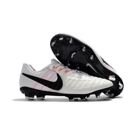 Zapatillas de fútbol Baratas Nike Tiempo Legend VII FG Blanco Negro