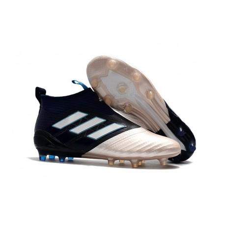 Baratas Botas de fútbol adidas Ace 17+ Purecontrol FG KITH Oro Negro Blanco