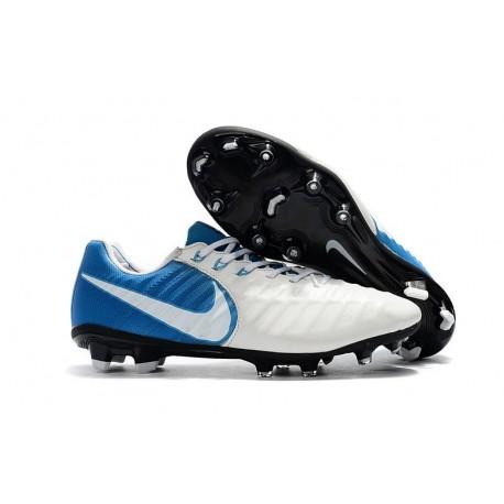 Botas de fútbol Nike Tiempo Legend VII FG Para Hombre Blanco Azul