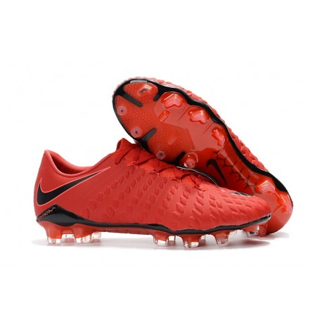 save off c59a4 6ad13 Zapatillas de fútbol Nike HyperVenom Phantom III FG Rojo Negro Crimson