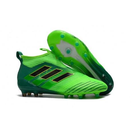 Zapatos de fútbol adidas Ace 17+ Purecontrol FG Verde Negro