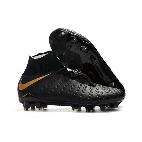 huge selection of 86ada 42b8c Nuevo Botas de fútbol Nike Hypervenom Phantom III DF FG Negro Oro