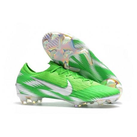 Zapatillas de fútbol Nike Mercurial Vapor XII Elite FG Plata Verde
