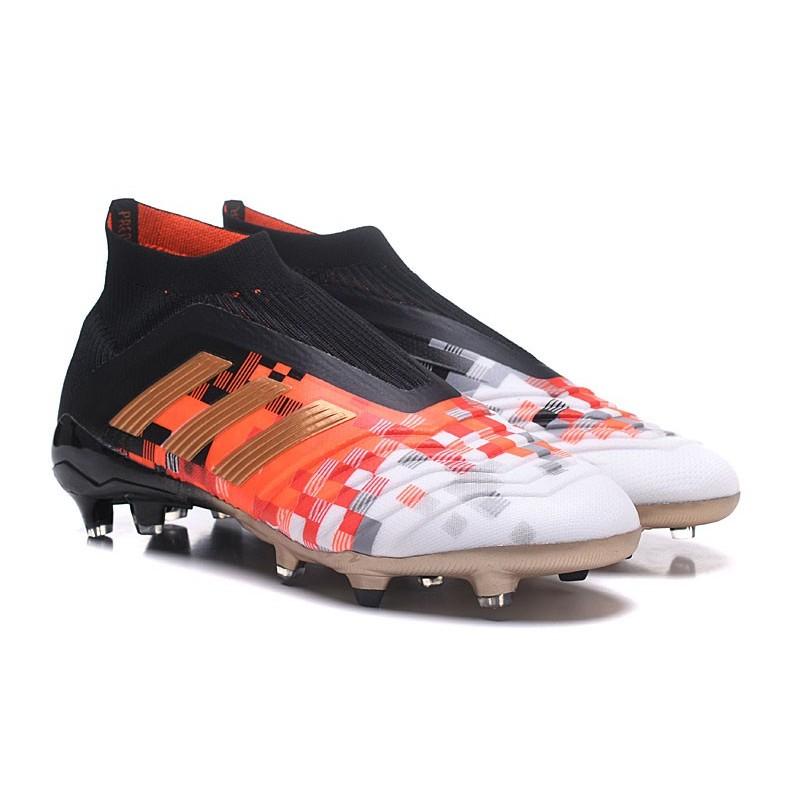 new arrival 2736c 64681 Zapatillas de fútbol Adidas Predator Telstar 18+ FG Para Hombre Negro Cobre  Gris Ampliar. Anterior. Siguiente