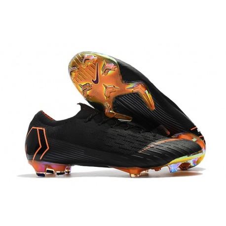 Zapatillas de fútbol Nike Mercurial Vapor XII Elite FG Negro Naranja Blanco