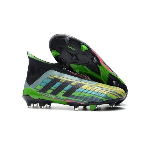 Botas Nuevas de Futbol Adidas Predator 18+ FG Mezclar Colores Verde Negro Amarillo