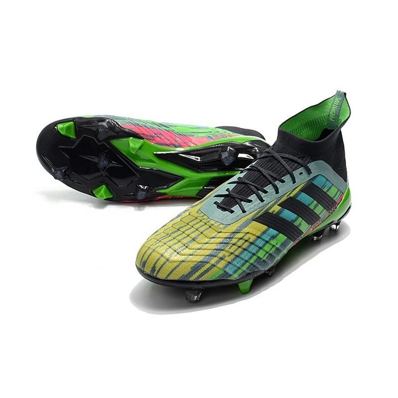 ... sale bota adidas predator 18.1 fg 2018 mezclar colores verde negro  amarillo ampliar. anterior. 0e1fc1f1bb1fa