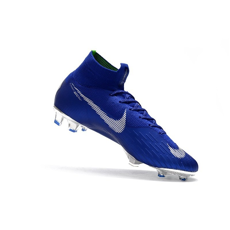 new styles 04f68 fba4f ... Nike Mercurial Superfly VI CR7 360 Elite FG Azul Plata Ampliar.  Anterior. Siguiente