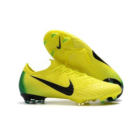Botas de Fútbol Nike Mercurial Vapor 12 Elite FG Amarillo Voltio Negro