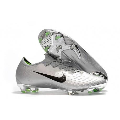 Baratas Botas de fútbol Nike Mercurial Vapor XII FG - Plata Negro