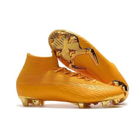 arrives 4997e 62d43 Baratas Zapatillas de fútbol Nike Mercurial Superfly VI 360 Elite FG Dorado