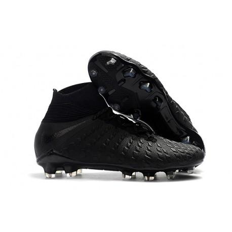 Zapatillas de fútbol Nike Hypervenom Phantom III DF FG Plata Negra