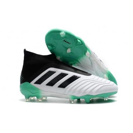 Baratas Botas de fútbol Adidas Predator 18+ FG Blanco Verde