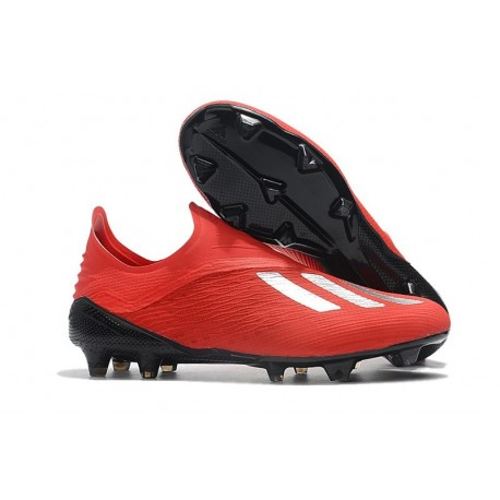 Zapatillas de fútbol Baratas Adidas X 18+ FG Plata Roja