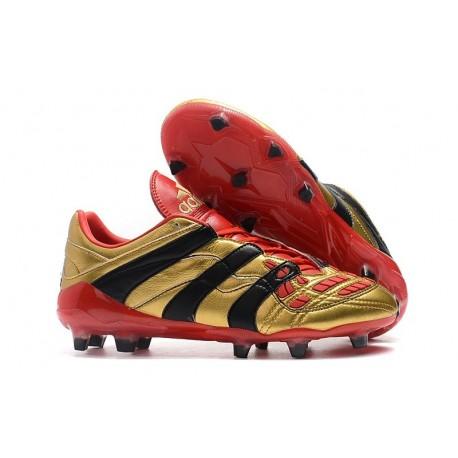 Nuevo Botas de fútbol Adidas Predator Accelerator Electricity FG Oro Rojo Negro