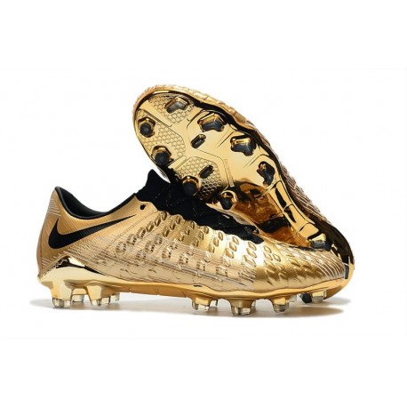 Tacos de futbol 2019 Nike HyperVenom Phantom III FG Oro Negro