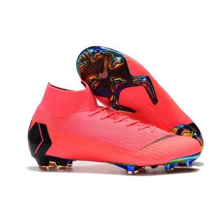Nike Botas de Fútbol Mercurial Superfly 6 Elite FG Rosa Negro