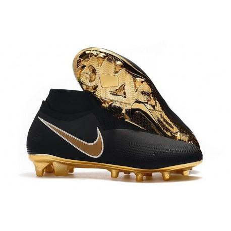 Nike Phantom Vision Elite DF FG Zapatos de Fútbol Negro Oro