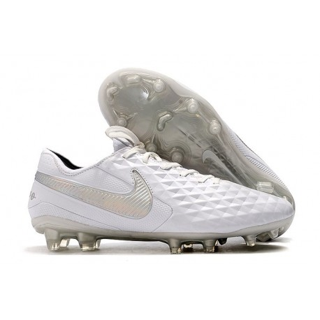 Zapatos de Fútbol Nike Tiempo Legend 8 Elite FG Blanco Platino Gris