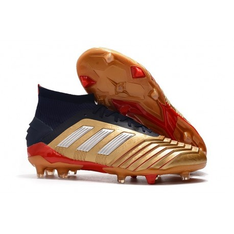 Botas de fútbol adidas Predator 19.1 FG Oro Plata