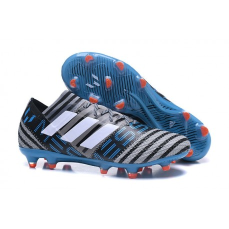 new style aee64 c3b94 Botas de fútbol Adidas Nemeziz Messi 17.1 FG para Hombre Gris Negro Azul