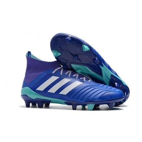 Botas de fútbol Adidas Predator 18.1 FG Azul Blanco