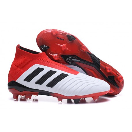 Nuevo Botas de fútbol Adidas Predator 18+ FG Blanco Negro Rojo