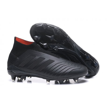 Baratas Botas de fútbol Adidas Predator 18+ FG Todo Negro