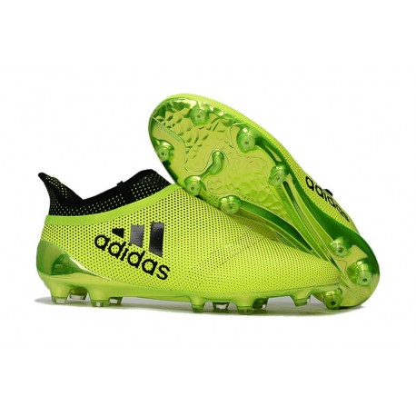 Nuevo Botas de fútbol Adidas X 17+ Purespeed FG Verde Negro