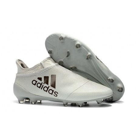 Baratas Botas de fútbol Adidas X 17+ Purespeed FG Blanco Negro