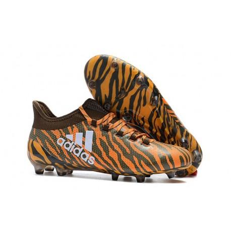 Baratas Botas de fútbol Adidas X 17.1 FG Naranja Oliva