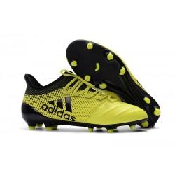 Botas de fútbol para Hombre Adidas X 17.1 FG Amarillo Negro