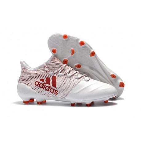 the best attitude 7995e de32f Botas de fútbol para Hombre Adidas X 17.1 FG Blanco Rojo