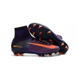 Botas de fútbol Nike Mercurial Superfly V FG Púrpura Naranja