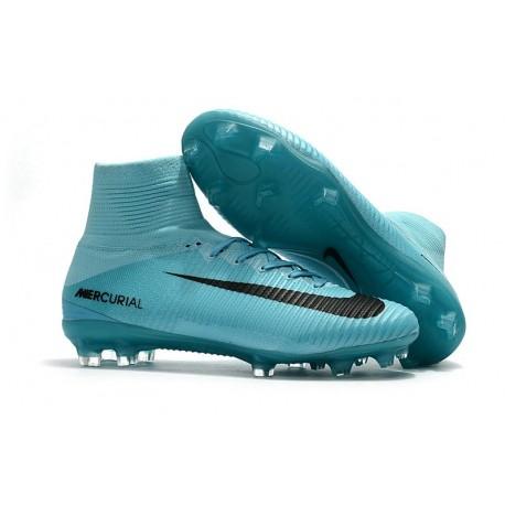 Zapatillas de fútbol Nike Mercurial Superfly 5 FG Azul Negro
