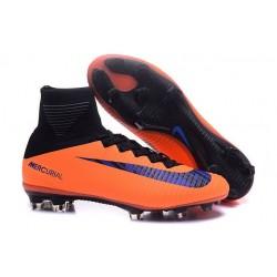 Zapatillas de fútbol Nike Mercurial Superfly V FG Para Hombre Naranja Negro Violeta
