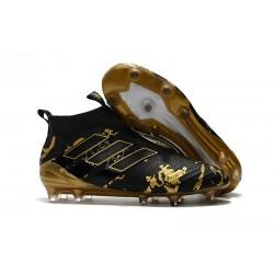 Zapatos de fútbol adidas Ace 17+ Purecontrol FG Paul Pogba Capsule Negro Oro