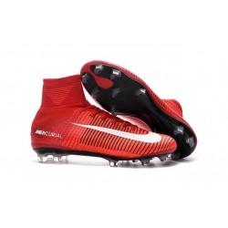 Baratas Botas de fútbol Nike Mercurial Superfly V FG Rojo Blanco Negro