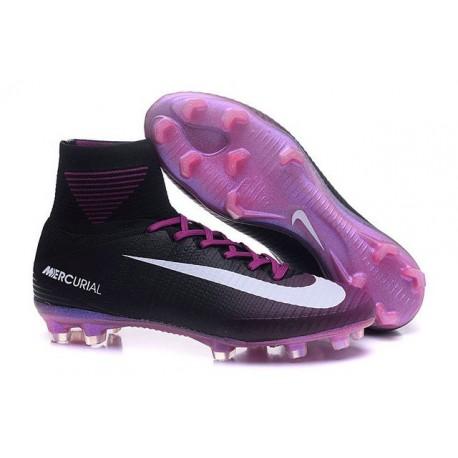 Zapatillas de fútbol Nike Mercurial Superfly 5 FG Negro Violeta Blanco