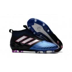 Tacos de futbol adidas Ace 17+ Purecontrol FG Negro Blanco Azul