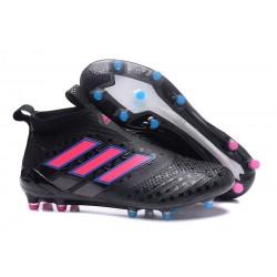 Zapatos de fútbol adidas Ace 17+ Purecontrol FG Blanco Negro Rosado