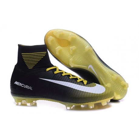 Zapatillas de fútbol Nike Mercurial Superfly 5 FG Giallo Bianco Nero